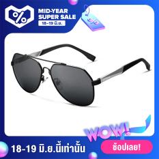 VEITHDIA Thương hiệu nam giới nhôm magiê lớn quá khổ Kính râm Polarized Blue lens Eyewear Sun Glasses For Men Nam oculos 3598