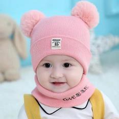 Mũ quả lông cho bé| tặng kèm Khăn mũ