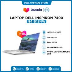Laptop Dell Inspiron 7400 14.5 inches IPS QHD (Intel / i5-1135G7 / 16GB / 512GB SSD / NVIDIA GeForce MX350, 2 GB / Finger Print / Win 10 Home SL) l Silver l N4I5134W l HÀNG CHÍNH HÃNG