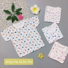 Áo bình sữa cộc tay cotton cho bé sơ sinh 0-11kg hàng đẹp được làm từ vải cotton mỏng nhẹ an toàn cho làn da nhạy cảm của bé