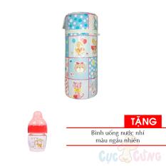 Ủ bình sữa cổ thường Hello BaBy – ĐƠN 3 lớp (lõi nhựa) – họa tiết ngẫu nhiên Tặng 1 bình uống nước nhí cho bé màu ngẫu nhiên