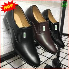 Giày da nam công sở thanh lịch, nhã nhặn màu đen da nhám hot 2019 M519