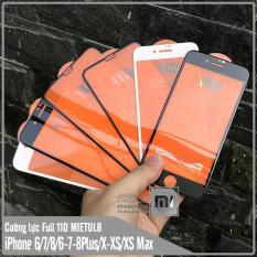 [Mua 1 Tặng 1] Kính cường lực 11D cho iPhone 6-7-8 / 6-7-8 Plus / X-Xs / Xs Max Full viền Đen & Trắng MIETUBL