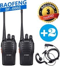 Bộ 02 Baofeng BF-666S+ 02 Tai Nghe Chuyên Dụng – BH:3 Tháng