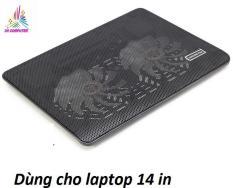 Quạt tản nhiệt Laptop đế tản nhiệt kèm quạt làm mát laptop có đèn N139