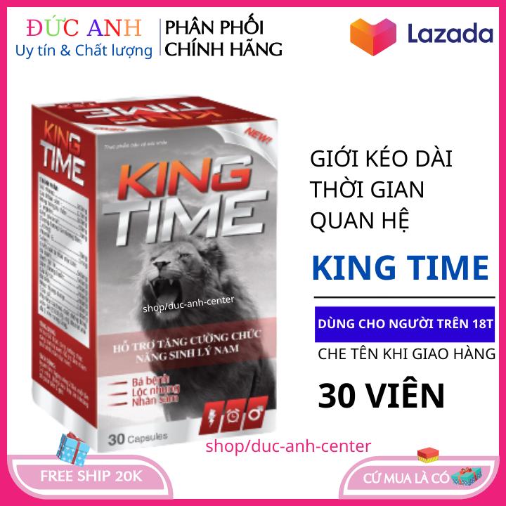 Bổ thận tráng dương tăng cường sinh lý King Time hộp 30 viên HSD 2023