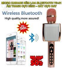 Mic hát karaoke, Micro karaoke kèm loa bluetooth YS – 91 kèm loa bluetooth 3 trong 1 âm thanh cực đỉnh – bảo hành đổi mới trên toàn quốc