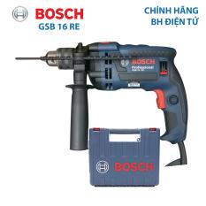 Máy khoan động lực Máy khoan tường Bosch GSB 16 RE cải tiến Công suất 750W hộp nhựa xuất xứ Malaysia