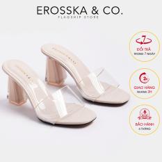 Dép nữ, dép cao gót Erosska quai trong kiểu dáng đơn giản thời trang thanh lịch cao 9cm – EM040(NU)