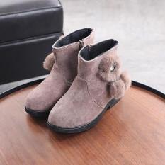 giày bốt da lộn bé gái size 32-37