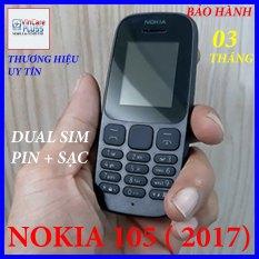 Điện thoại Nokia 105( mẫu 2017- 2 Sim) zin giá rẻ, nghe gọi to rõ, kiểu dáng trẻ trung