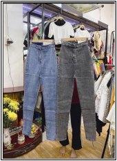 Quần jean nữ lưng cao ĐAI TRƠN siêu tôn giáng chất jean giãn cực đẹp hot-pt-K46