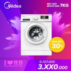 Midea máy giặt cửa trước 7kg đa chức năng, vắt khô nhanh, tự khởi động lại khi có điện, khóa trẻ em, máy giặt giá rẻ MFG70-1000