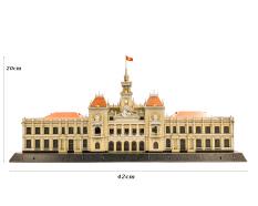 Bộ lắp ráp Mô hình giấy 3D TRỤ SỞ UBND TP.HCM 42cm x 20cm 76 mảnh ghép