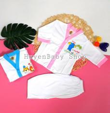 Bộ quần áo sơ sinh tay dài màu trắng Hello Baby cho bé từ 3-11,3kg