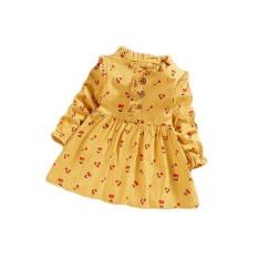 Đầm Đũi Cổ Tàu Bèo Nhún Hoa Nhí bé gái BabyBean