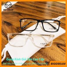 [BẢO HÀNH 12 THÁNG 1 ĐỔI 1] Mắt kính giả cận cao cấp gọng kim loại dành cho cả nam và nữ FRED8058 – Gọng kính cận cao cấp phù hợp với mọi lứa tuổi