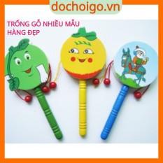 Đồ chơi lục lạc trống gỗ cho bé, đồ chơi âm thanh phát triển trí tuệ Dochoigovn