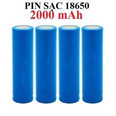 Pin sạc li-ion 3.7v 2A 18650 2000 mAh cho đồ điện tử