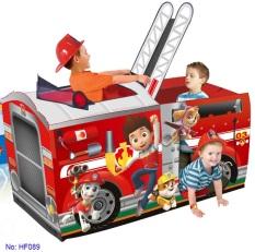 Nhà bóng xe cứu hỏa cho bé HF089 – nhà banh, quây bóng, do choi tre em
