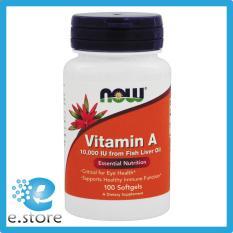 Sản phẩm từ Mỹ, Vitamin A — 10000 IU – 100 Softgels