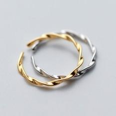 Nhẫn bạc nữ tròn trơn dạng xoăn dễ thương – N2627 – Bảo Ngọc Jewelry