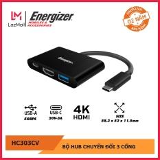 BỘ CHUYỂN USB-C3.1 HUB ENERGIZER USBA/USB-C/HDMI – HC303CV. BẢO HÀNH 2 NĂM, HÀNG CHÍNH HÃNG