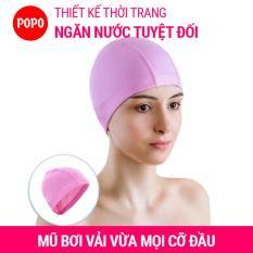 Mũ bơi người lớn nón bơi người lớn POPO CA36 mũ bơi nam, nữ vải Spandex mềm mại, đàn hồi