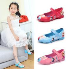 Giày bé gái giày búp bê hình công chúa tuyết Elsa và Anna xinh đẹp