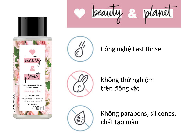 Bán Dầu xả cho tóc nhuộm Love Beauty And Planet Blooming Colour 400ml | Báo  Giá Rẻ 165.000₫