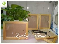 Bộ 5 khung hình gỗ 13x18cm để bàn+treo tường