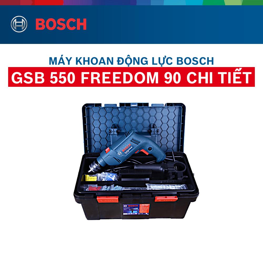 Máy khoan động lực Bosch GSB 550 FREEDOM 90 chi tiết