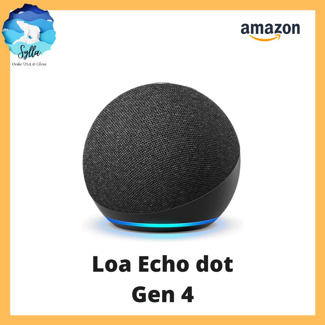 Loa Alexa Amazon Echo Dot (gen 4) – Loa thông minh bluetooth Hoàn toàn mới [Nhập chính hãng từ USA]