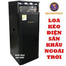 Loa Kéo Điện BOSPRO PRO-E900S, loa karaoke Sân Khấu 2 bass 40CM, công suất đỉnh 920W, kèm 2 micro không dây