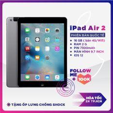 Máy tính bảng Apple IPAD AIR 2 Bản WIFI Máy Zin Ram 2G Chip A8X mạnh mẽ Màn Hình 9.7 inch full HD Cảm biến vân tay