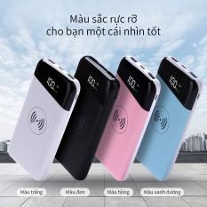 Sạc dự phòng Kiêm Sạc Không Dây Di Động Chuẩn Qi Dung Lượng 10000mAh Sạc Không Dây Iphone Samsung sạc dự phòng 10000mah