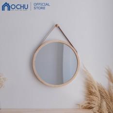Gương Tròn Treo Tường Khung Gỗ OCHU – Mirror Circle 50 – Natural