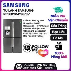Tủ lạnh Samsung Inverter 564 lít RF56K9041SG/SV Miễn phí vận chuyển nội thành Sóc Trăng, Bạc Liêu, Cà Mau