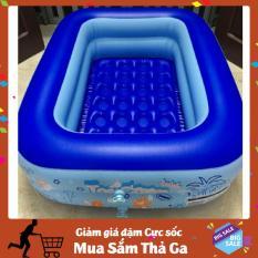 [Tặng Kèm Keo Miếng Vá] Bể bơi phao 2 tầng cho bé ( Kích thước 120 x 95 x 35 cm) đáy chống trơn trượt an toàn cho trẻ em – G12