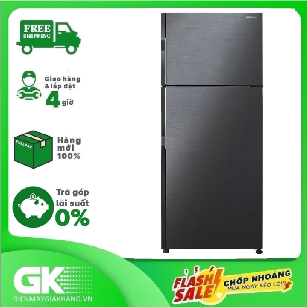 [HCM][GIAO HÀNG 2 – 15 NGÀY TRỄ NHẤT 30.08] TRẢ GÓP 0% – Tủ lạnh Hitachi Inverter 290 lít R-H350PGV7 (BBK)- Bảo hành 12 tháng