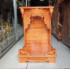 Bàn thờ thần tài ông địa gỗ xoan ngang 38 cm