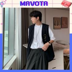 Áo khoác gile kaki nam nữ Mavota áo ghi lê unisex form rộng phong cách Hàn Quốc GILE02