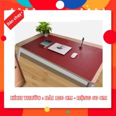 Tấm lót bàn da chống nước nhiều màu cao cấp – Kích Thước 60 cm x 120 cm – Tặng miếng lót ly