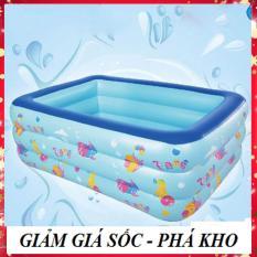 [Tặng kèm miếng vá – GIÁ SALE CỰC RẺ] Bể bơi phao 3 tầng trẻ em hình chữ nhật 1m3 cao cấp cho bé vui chơi trong thời tiết mùa hè nóng bức, bể tắm trẻ em – GDVINH02