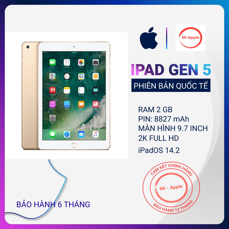 Máy tính bảng iPad 2017 (Ipad gen 5) Chính hãng Quốc tế màn hình lơn 9.7 inch siêu sắc nét cấu hình mạnh bảo hành 12 tháng 1 đổi 1 tại nhà trong vòng 30 ngày không mất phí Gian hàng uy tín Vmobile