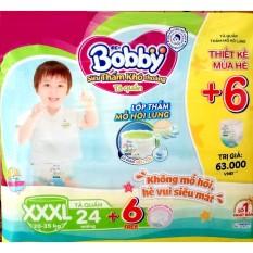 [TẶNG THÊM 6 MIẾNG] Bỉm / Tả quần Bobby size XXXL24