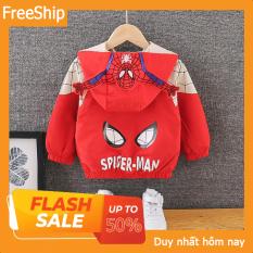 [Áo trẻ em] Áo Khoác Áo Gió KIỂU Người Nhện Spiderman- full size cho bé