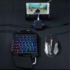 Full bộ chuyển đổi và bàn phím + chuột chơi game mobile