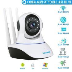 Camera IP Wifi Yoosee 3 Râu HD720P 10 đèn hồng ngoại đàm thoại 2 chiều (Trắng)