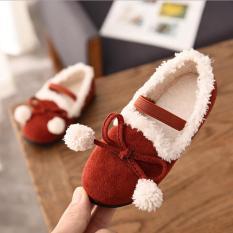 giày búp bê lót lông cho bé